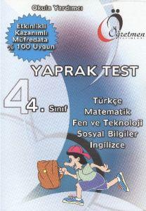 4. Sınıf Okula Yardımcı Yaprak Test