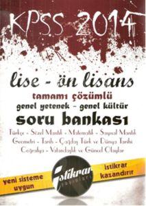 İstikrar 2014 KPSS Lise, Önlisans GY, GK Tamamı Çö