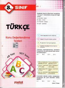 Metot 8. Sınıf Türkçe Konu Değerlendirme Testleri
