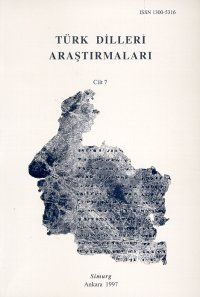Türk Dilleri Araştırmaları Yıllığı 1997 Cilt: 7